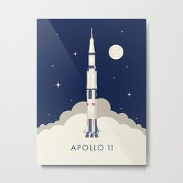 Apollo 11 Space - Saturn Rocket A Metal Print