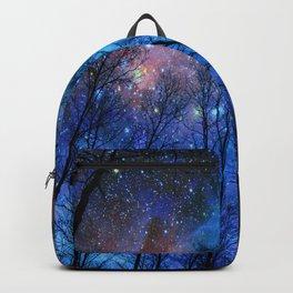 Black Trees Dark Blue Space Backpack