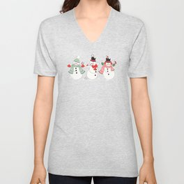 Snowman Winter Wonderland Unisex V-Neck