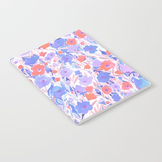 Flower Field Apricot Lilac Notebook