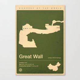 Great Wall, China Canvas Print