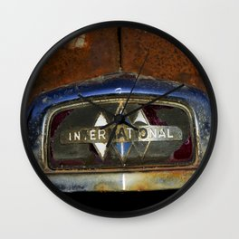 International Truck Emblem Wall Clock