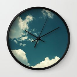 Clouds On Blue Sky Photography Wall Clock