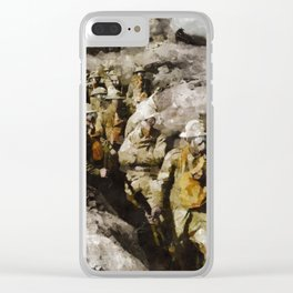 Ghosts of World War One Clear iPhone Case
