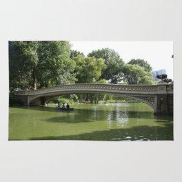 Bow Bridge And Rowboat NYC Rug