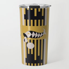 Art Deco Bird & Fish - Hemingway Travel Mug