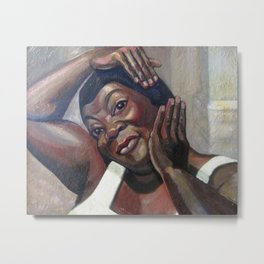 African American Masterpiece, Fixing her Hair (Ruby Elzy in Porgy and Bess) by Serge Sudeikin Metal Print