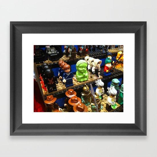 Little Bu Making Friends Framed Art Print