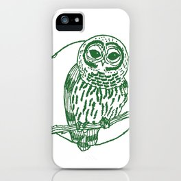 Forest Lover's Owl iPhone Case