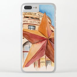The Bullock Texas State History Museum Watercolor Clear iPhone Case