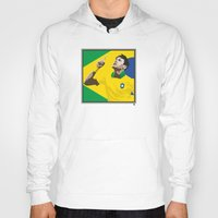 neymar Hoodies featuring Neymar Brasil 2 by lockerroom51