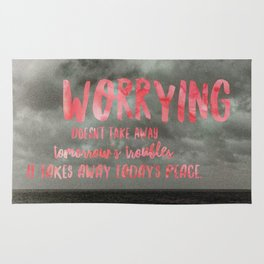 Motivation Poster Black and White Moody Skies with Bright Pink Typography Rug