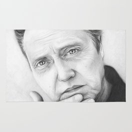 Christopher Walken Portrait Rug
