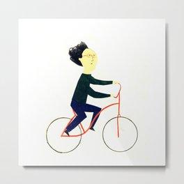 Reason TEN for using bike: Metal Print