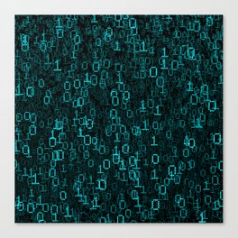 Binary Data Cloud Canvas Print