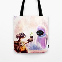 wall e Tote Bags featuring Wall-e by p1xer