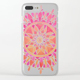 Mandala – Pink Ombré Clear iPhone Case