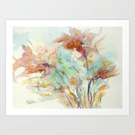 Autumn (abstract watercolor) Art Print