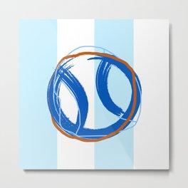 Tnns Ball Blue Metal Print