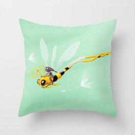 Dragonbee Throw Pillow