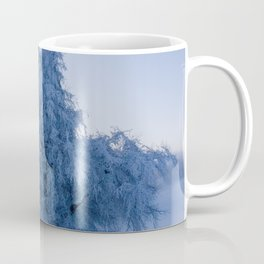 Snowy Tree on a Foggy Mountain Sunrise - Landscape Photography Coffee Mug
