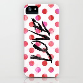 Love Polka Dot iPhone Case