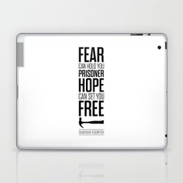 Lab No. 4 - Hope Inspirational Quote by Stephen King Inspirational Quotes Laptop & iPad Skin