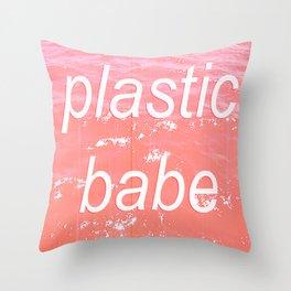 Plastic babe Throw Pillow
