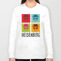 popart Long Sleeve T-shirts featuring Heisenberg Popart by Nxolab