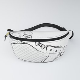 sneaker illustration pop art drawing - black and white graphic Fanny Pack