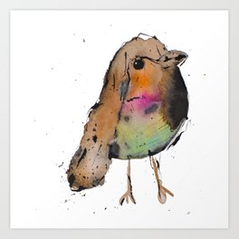 Pajarito en color Art Print