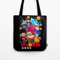 dragonball Tote Bags featuring Rise of Mini Dragonball by cungtudaeast
