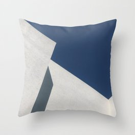 Abstract architecture against blue sky Throw Pillow