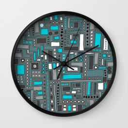 Turquoise Dream (Pattern) Wall Clock