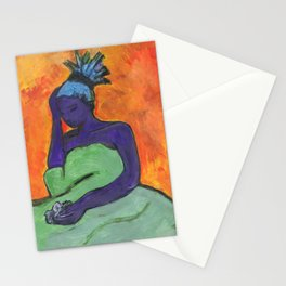 Kathleen Stays in Bed Stationery Cards