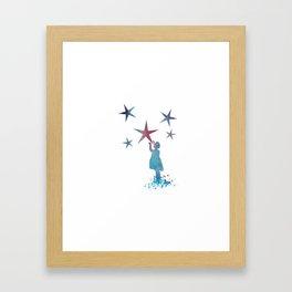 Stars art Framed Art Print