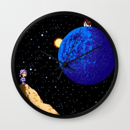 Faraway from Home Wall Clock