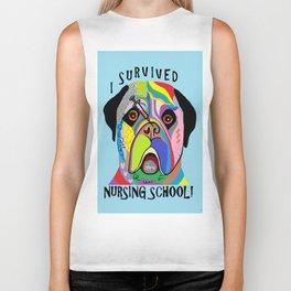 I Survived Nursing School Biker Tank