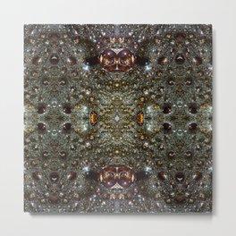 Abstract brown, dark gray texture pattern Metal Print