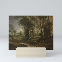 EVENING LANDSCAPE WITH TIMBER WAGON PETER PAUL RUBENS Mini Art Print