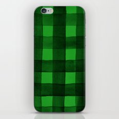 Buffalo Plaid Watercolor in Green iPhone & iPod Skin