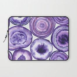 Purple agate pattern Laptop Sleeve