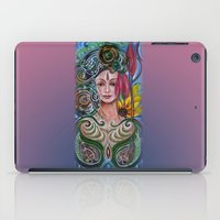 chakra iPad Cases featuring Chakra Mandla by Harsh Malik