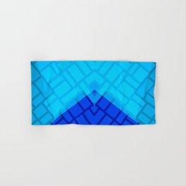 Blue Brick Two Tone Pattern Hand & Bath Towel