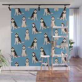 Husky Dogs Wall Mural