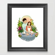 We Make a Cute Couple Framed Art Print