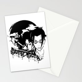 samurai grunge Stationery Cards