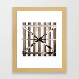 Rustic Multi Wood Barn Door Framed Art Print