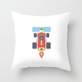 "Creative Drive - ""Car for illustrators"" Throw Pillow"