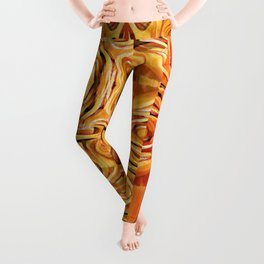 Abstract Chinese Noodle Leggings